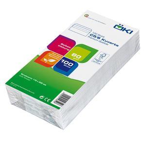 100 Stk ÖKI Briefumschläge Kuvert C5/6 110x220mm weiß, 80 gr. selbstklebend