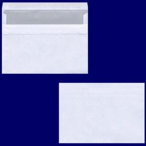 100 Stk Briefumschlag C6 162x114mm, 75gr, SK OF, weiß