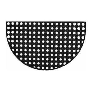 Fußabtreter Gummimatte Türmatte Fußabstreifer 75x45cm halbrund schwarz