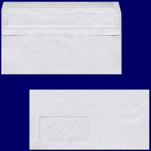 1000 Stk Briefumschlag DL-C5/6 220x110mm, 75gr, SK MF, grau - recycling