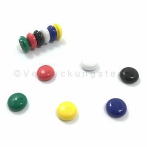 12 Stk Haftmagnete rund 15mm in schwarz, rot, blau, grün, gelb, weiß