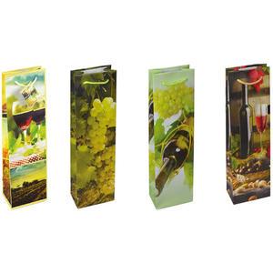 12 Stk Premium Geschenktüten Flaschentüten gr. Flasche WEINE 362x124x76mm