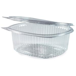 50 Stk Feinkostbecher oval klar mit Deckel 1000 ml (PET)