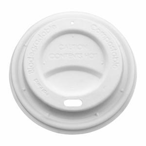 50 Stk Domdeckel aus Papier für BIO Heißgetränkebecher Coffee to go 90mm Ø