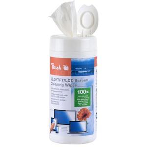 100 Stk Peach feuchte Spezial-Reinigungstücher für LED TFT und LCD Bildschirme