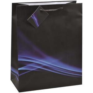 12 Stk Premium Geschenktüten Präsenttüten groß BUSINESS WAVE 327x264x136mm