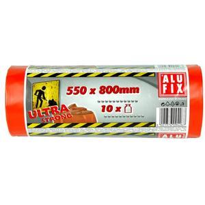 10 Stk ALUFIX Bauschuttsäcke Schwergut Müllbeutel 70 Liter 550x800mm orange