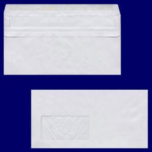 100 Stk Briefumschlag DL-C5/6 220x110mm, 75gr, NK MF, grau - recycling