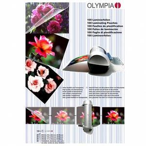 100 Stk OLYMPIA Laminierfolien Set A4, A5, A6 und Visitenkartengrösse