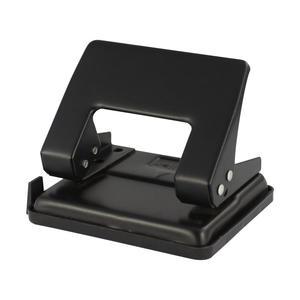 PAVO Premium Bürolocher mit Anschlagschiene für 20 Blatt Metallgehäuse, schwarz