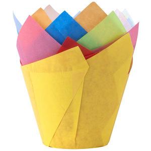 24 Stk Muffin-Tulip-Wraps, farbig sortiert, 160x160 mm