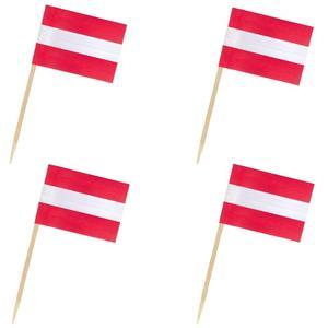 50 Stk Flaggenpicker Fahnenpicker Deko-Picker Land 'Österreich'