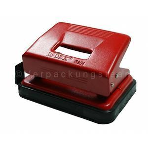 hansa(werke Locher INDEX Exact, Metall mit Anschlagschiene, für 15 Blatt, rot