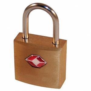 5 Stk TSA 2 Schlüssel Schlüsselschloss, Reiseschloss, Gepäckschloss 20mm aus Messing