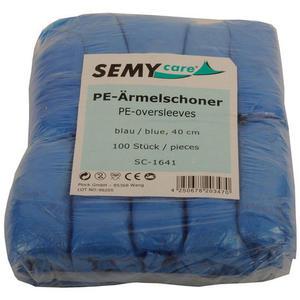 100 Stk Ärmelschoner, blau, PE, ca. 40cm, 100 stk