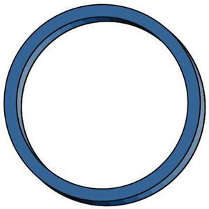 4 Stk Gummiringe Gummibänder Ø 30mm, 1 mm in blau, ca. 200 Stk., 50 gr.