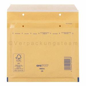 300 Stk AROFOL CLASSIC Luftpolstertasche CD, 180x165mm, für CD/DVD, braun