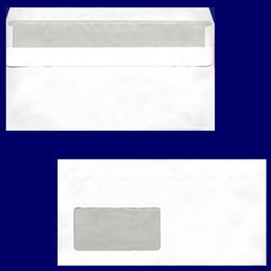 100 Stk Briefumschlag DL-C5/6 220x110mm, 75gr, SK MF, weiß