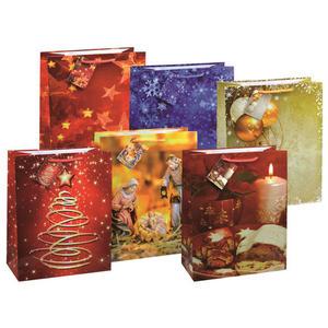 120 Stk Premium Geschenktüten Präsenttüten groß Weihnachten 320x260x135mm