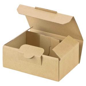 100 Stk Maxibriefkarton und Warensendung Versandkarton SMALL, 120x80x45mm, braun