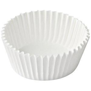1000 Stk Gebäckkapseln weiß Ø 26 x 16 mm