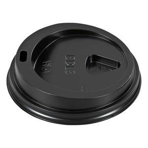 400 Stk Domdeckel schwarz für Pappbecher - `Coffee to go` - 200ml mit 80mm Ø