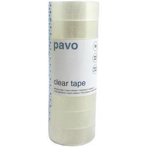 8 Stk Pavo Klebefilm Büroklebeband Easy Tear 19 mm x 33 m, transparent