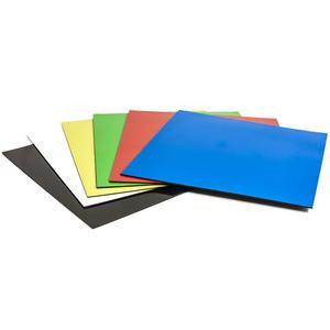 6 Stk Magnethaftende quadratische Symbole, 15 x 15 cm, 6 Stück, verschiedene Farben