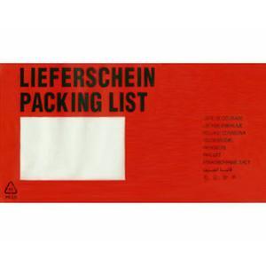 250 Stk DOCUFIX Dokumententaschen *Lieferschein*, DIN Lang 240x115mm