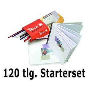 PEACH Einband-Starterset für Plastikbindung, 120 tlg.