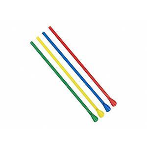 250 Stk Löffel-Trinkhalme, farbig bunt gemischt, 240 mm Ø 6 mm