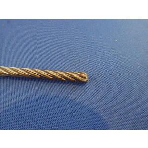 Edelstahldrahtseil, flexibles Drahtseil DIN 3055, AISI 316, 7 x 7, ø 4,0 mm, BL 918 kg