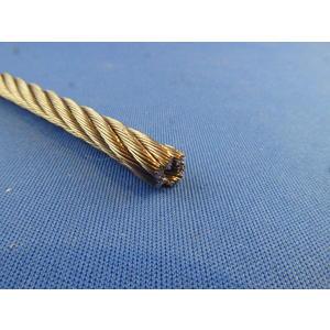 5 Meter Edelstahl - Drahtseil 7 x 7 hartes D= 6mm Stahlseil für Steuerseile etc. DIN 3055 AISI 316 Bruchlast 2.067 kg