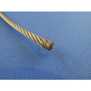 Edelstahldrahtseil, weiches Drahtseil DIN 3055, AISI 316, 7 x 7, ø 3,0 mm, BL 517 kg