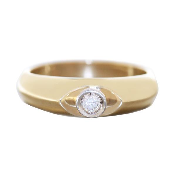 Verlobung Solitär Ring Gold 585 mit Brillant 0,09 ct. Diamantring RW 56 Goldring Damen