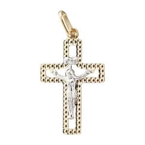 Kreuz Gold 585 mit Korpus Anhänger kleines Goldkreuz Goldanhänger zur Kommunion