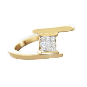Edler Diamantring Gold 750 Goldring 0,20 ct Brillanten RW 54 Damen 18 Kt