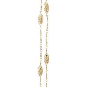 Collier Gold 750 mit Dekorteilen 45 cm Goldkette Halskette 18 kt Gelbgold Kette