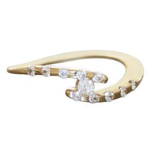 Zarter Ring Gold 585 mit Zirkonias 14 Kt. Goldring Damen RW 54