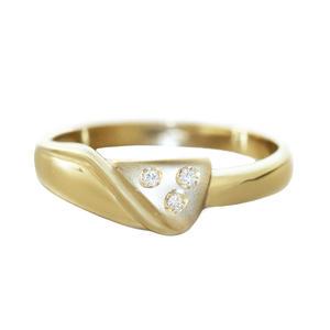 Ring Gold 585 mit Diamanten Brillanten Damenring 14 Kt. Top Design Goldring RW 57