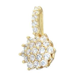 Anhänger Gold 585 Blume mit Zirkonias edles Schmuckstück Kettenanhänger Damen