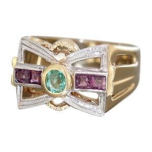 Damenring Gold 585 mit Brillanten Rubin Goldring Brillantring Ring Gelbgold RW55