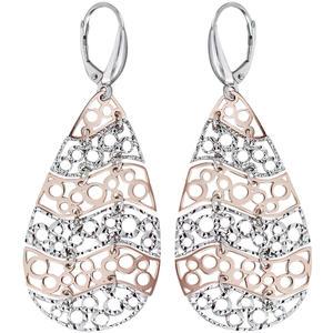 Lange Ohrhänger Silber 925 Rotgold Tropfen Ohrringe beweglich elegante Ohrhänger