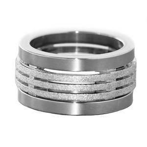 Massiver Ring Silber 925 und Edelstahl Silberring RW 54 schwerer breiter Bandring