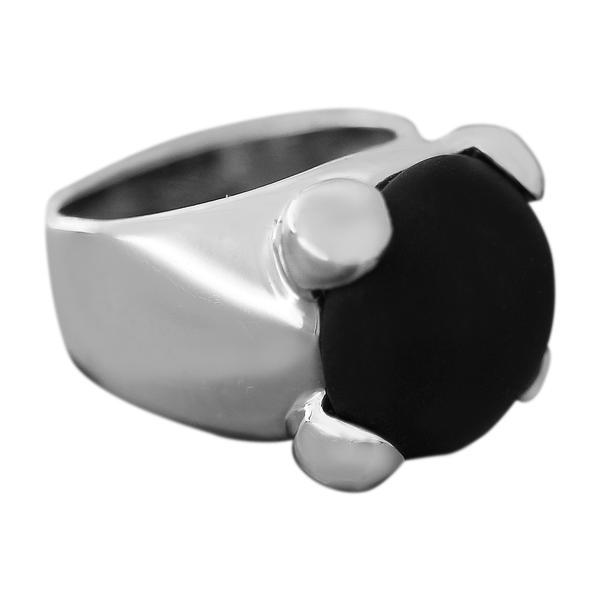 Ring Weißgold 585 mit Onyx RW 53 massiver Damenring 13 gr. schwarz weiß 14 Karat WG