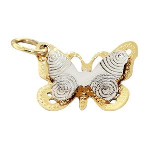 Schmetterling Gold 585 bicolor Anhänger Gold Goldanhänger Weißgold Gelbgold