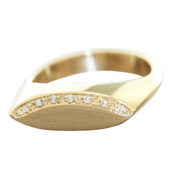 Ring Gold 585 Brillantring Goldring 14 Kt. Damen Diamantring RW 58