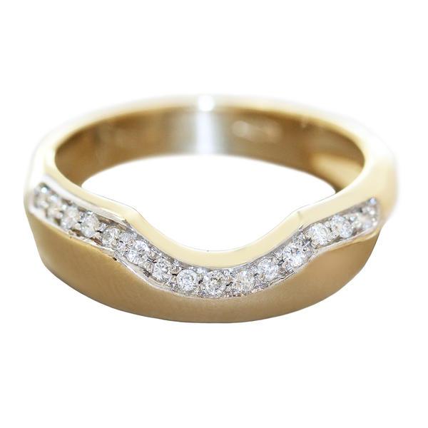 Diamantring Gold 585 RW 57 Damenring massiv 15 Brillanten 0,18 ct Top Design Goldring