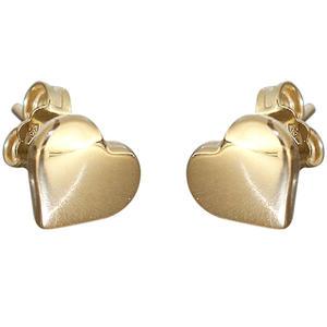 Herz Ohrstecker Gelbgold 750 Ohrringe Herzen Goldherz Stecker 18 Karat