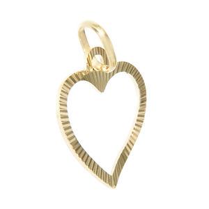 Herz Anhänger Gold 585 Gelbgold geschliffen Liebeserklärung
